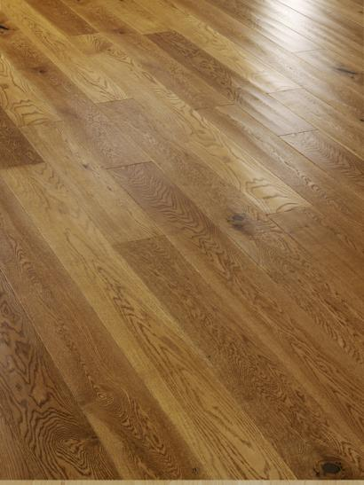 Rural oak, hand scraped, lacquered engineered wooden flooring