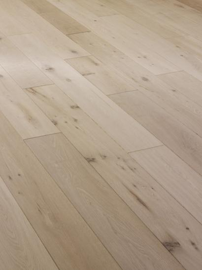Oak, rustic, unfinished engineered wooden flooring