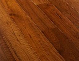 Teak, matt lacquered engineered wooden flooring