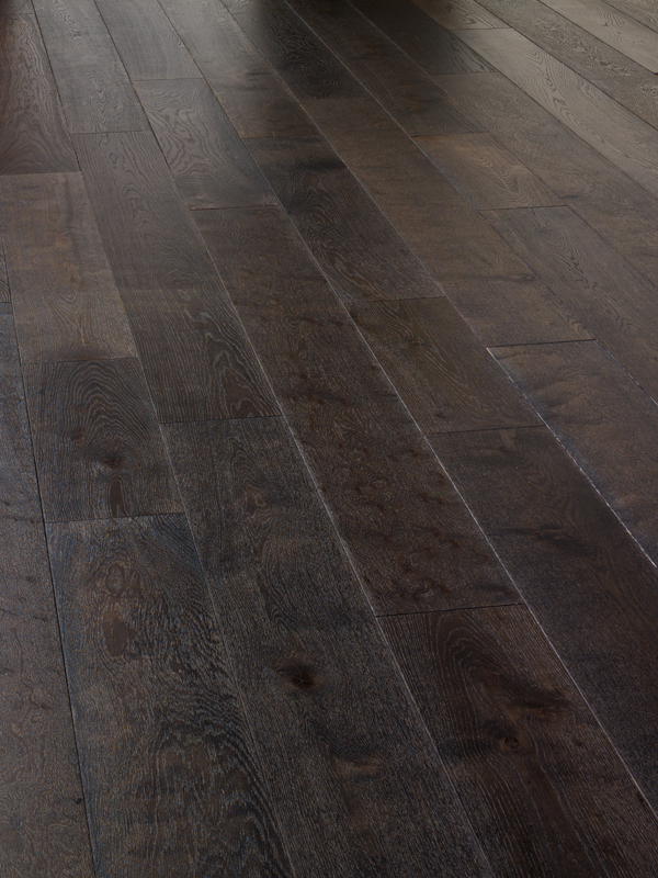 Oak Rustic Brushed Dark Grey And Uv Oiled Engineered