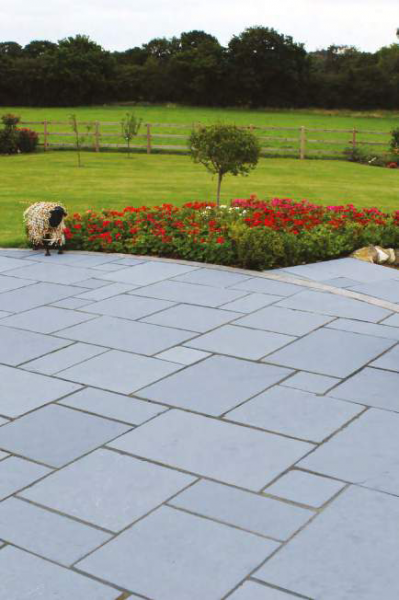 Natural Paving – Steel Blue Limestone